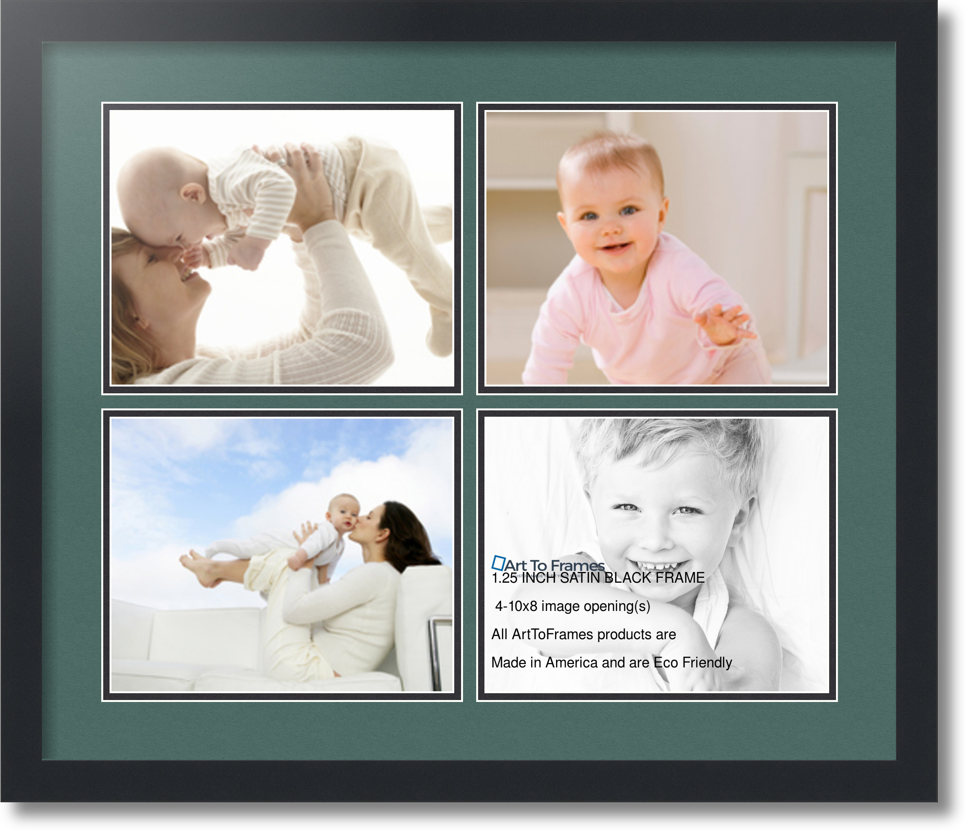 Enchanting 4 Opening 8x10 Collage Frame Vignette - Picture Frame ...