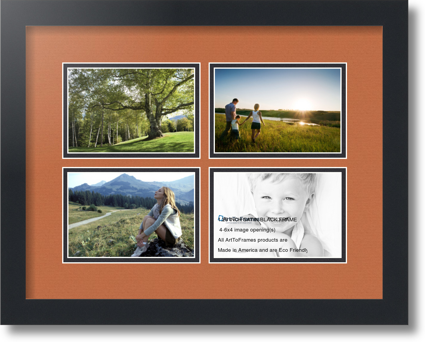 ArtToFrames Collage Mat Picture Photo Frame