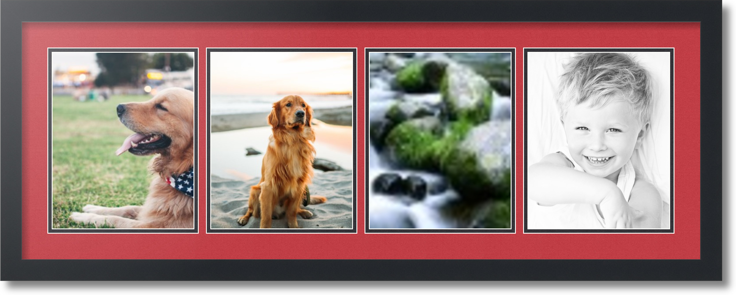 ArtToFrames Collage Mat Picture Photo Frame - 4 8x10\