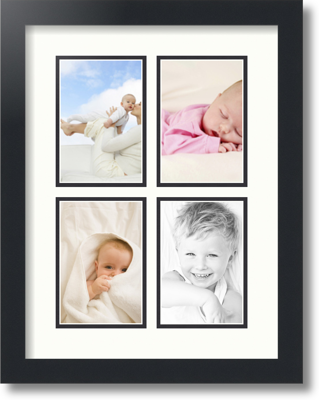 ArtToFrames Collage Mat Picture Photo Frame - 4 4x6\
