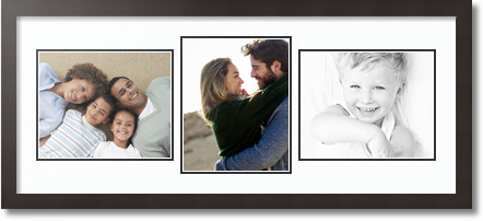 (2) 10x8 , (1) 8x10 Espresso Super White Collage Picture frame