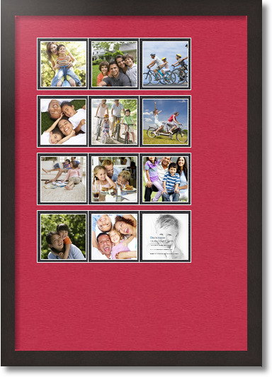18x26 Coffee Collage Picture Frame 12 Opening Rouge And