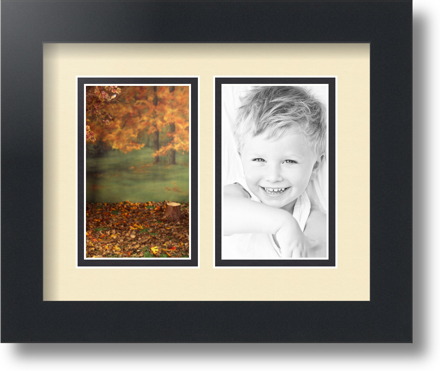 ArtToFrames Collage Mat Picture Photo Frame 2 3x5\