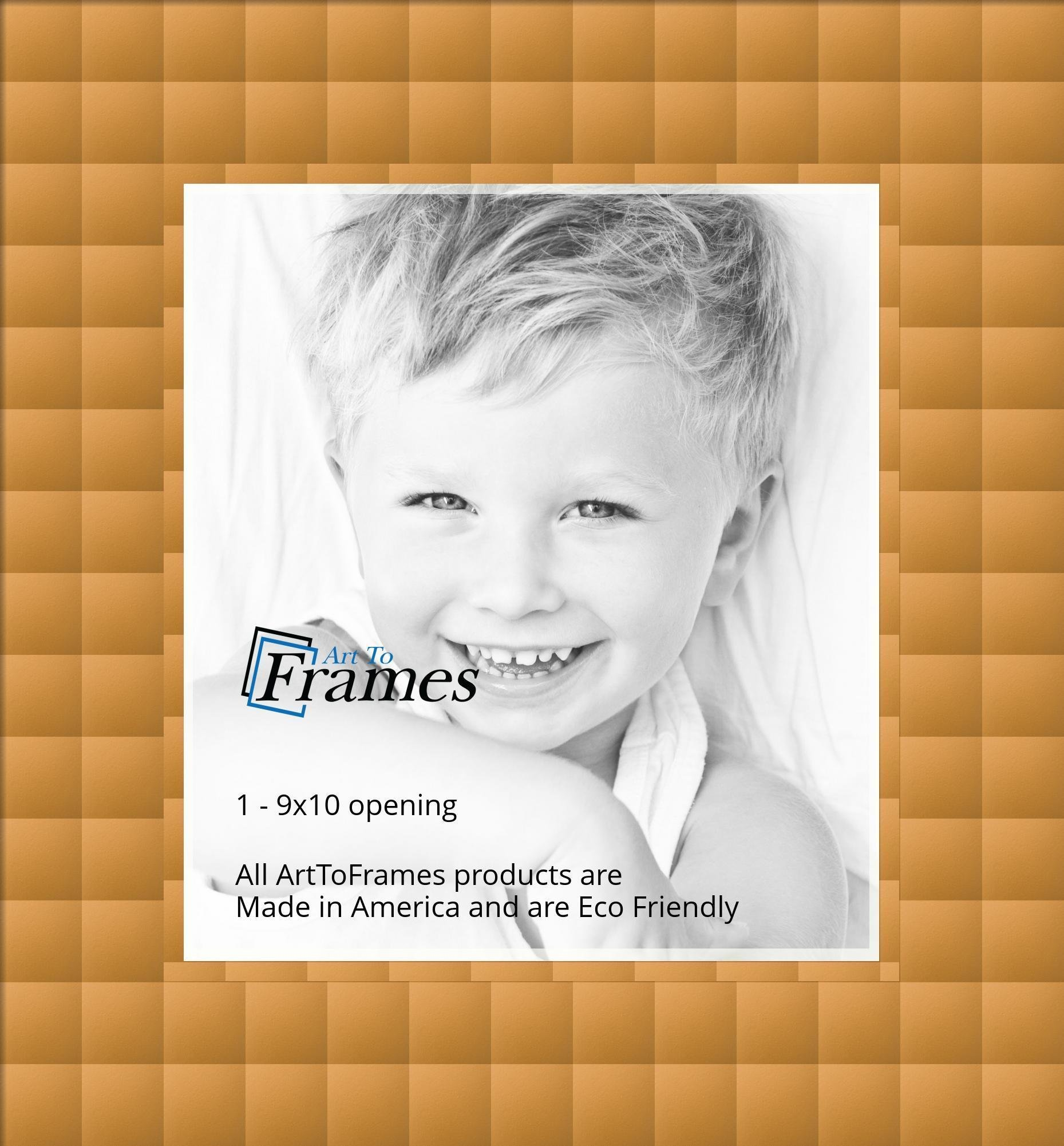 ArtToFrames Custom Gold Coronado Picture Photo Frame Mat Matting ...